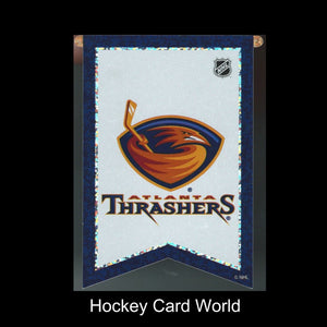 "Atlanta Thrashers 3""x4"" NHL Licensed Banner Sparkle Decal Sticker"