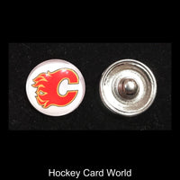 Calgary Flames NHL Snap Ginger Button Jewelry for Jackets, Bracelets