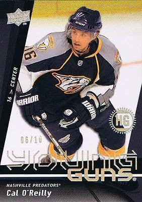 2009-10 Upper Deck Exclusives High Gloss CAL O'REILLY 6/10 Young Guns RC