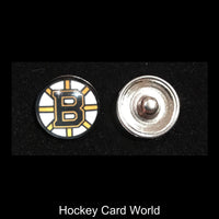 Boston Bruins NHL Snap Ginger Button Jewelry for Jackets, Bracelets