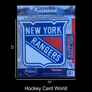"New York Rangers 12"" Fathead Jumbo Multi-Use Coloured Decal Sticker"