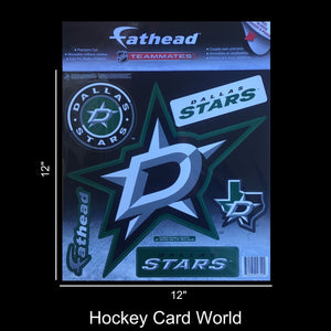 "Dallas Stars 12"" Fathead Jumbo Multi-Use Coloured Decal Sticker"