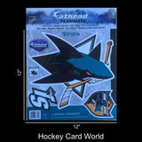 "San Jose Sharks 12"" Fathead Jumbo Multi-Use Coloured Decal Sticker"