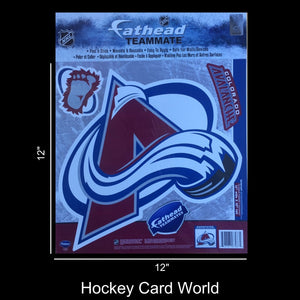 "Colorado Avalanche 12"" Fathead Jumbo Multi-Use Coloured Decal Sticker"