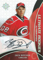 2008-09 Ultimate Collection ZACH BOYCHUK Auto Rookie 60/399 RC 00030