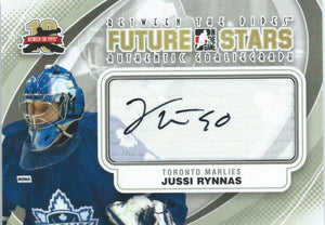 2011-12 Between the Pipes JUSSI RYNNAS Auto Autographs In the Game 00493