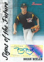 2007 Bowman Signs of the Future BRIAN BIXLER Auto Signature MLB 01307