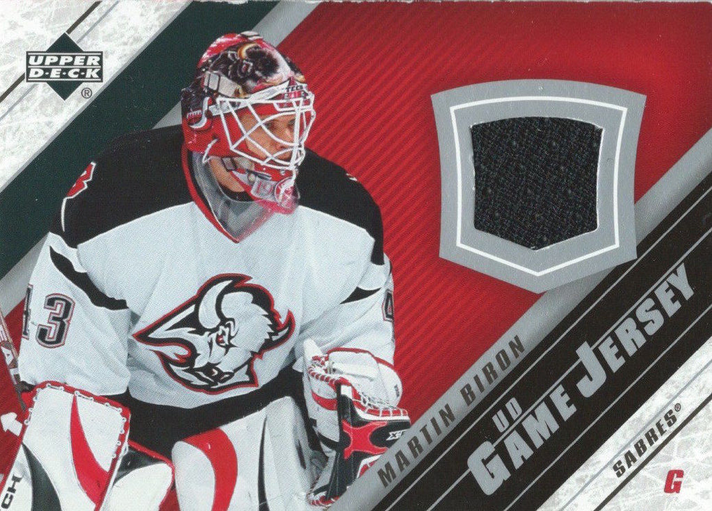 2005-06 Upper Deck Game Jersey MARTIN BIRON NHL Hockey 00694