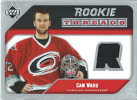 2005-06 Upper Deck Rookie Threads CAM WARD UD Jersey NHL 01856