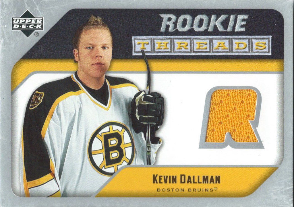 2005-06 Upper Deck Rookie Threads KEVIN DALLMAN UD Jersey NHL 01858