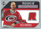 2005-06 Upper Deck Rookie Threads NIKLAS NORDFREN UD Jersey NHL 01859