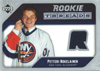 2005-06 Upper Deck Rookie Threads PETTERI NOKELAINEN UD Jersey NHL 01863