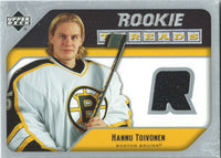 2005-06 Upper Deck Rookie Threads HANNU TOIVONEN UD Jersey NHL 01864