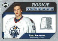 2005-06 Upper Deck Rookie Threads BRAD WINCHESTER UD Jersey NHL 01866