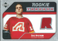 2005-06 Upper Deck Rookie Threads ERIC NYSTROM UD Jersey NHL 01870
