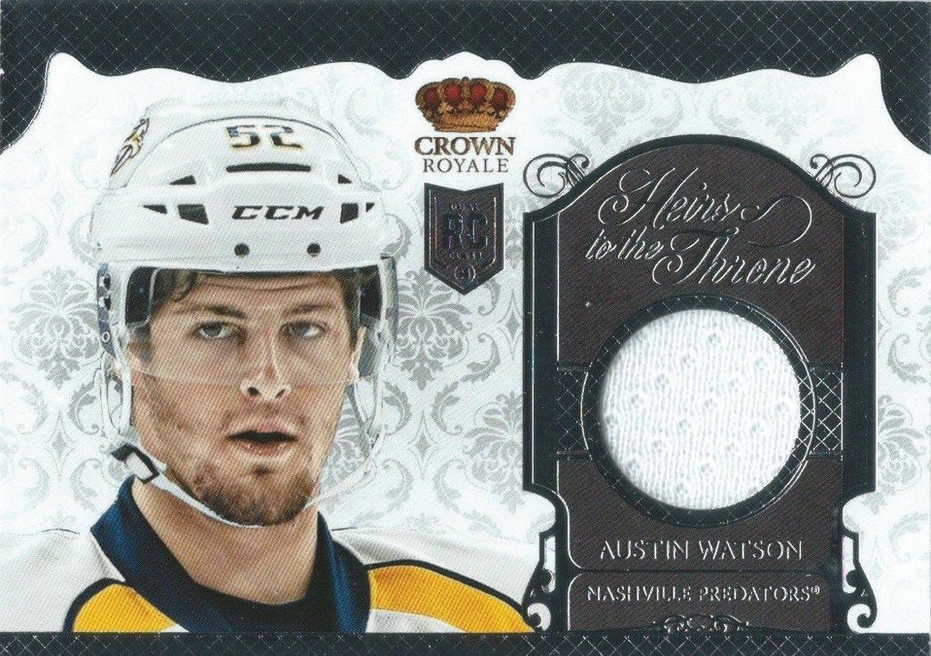 2013-14 Crown Royale Heirs to the Throne AUSTIN WATSON Jersey Rookie 00737