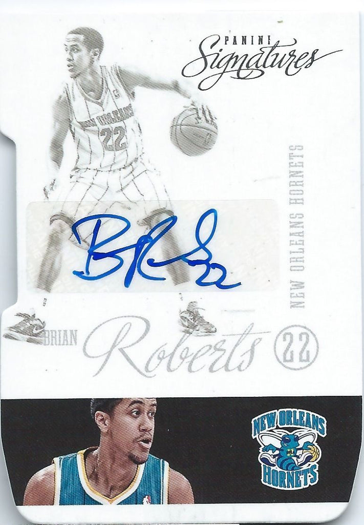 2012-13 Panini Signatures Die Cut BRIAN ROBERTS Auto Autograph NBA 01590