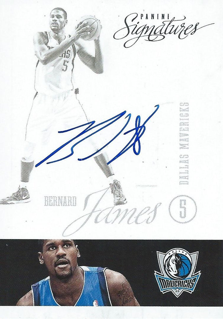 2012-13 Panini Signatures  BERNARD JAMES Auto NBA Autographs 01131