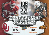 2011 Upper Deck Conference Clashes MURRAY / HUNTER UD Football 01057