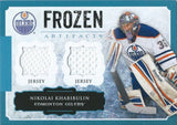 2013-14 Artifacts Frozen Aritfacts Jerseys Blue NIKOLAI KHABIBULIN 00758