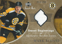 2006-07 Upper Deck Sweet Shot MARK STUART Jersey 64/499 Rookie 00681