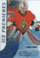 2015-16 Upper Deck Ice Premiers Rookie CHRIS DRIEDGER /1999 RC 02086