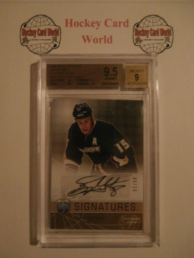 2008-09 Be A Player RYAN GETZLAF BGS 9.5 Auto 5/15 Players Club Signatures
