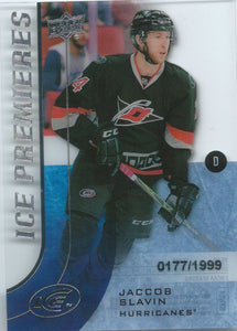 2015-16 Upper Deck Ice Premiers Rookie JACCOB SLAVIN /1999 RC 02113