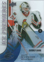 2015-16 Upper Deck Ice Premiers Rookie MATT O'CONNOR /1999 RC 02105