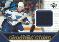 2005-06 Upper Deck Shooting Stars KEITH TKACHUK Jersey UD NHL 01884