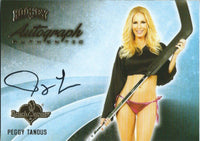 2014 Bench Warmer Signature Hockey PEGGY TANOUS Autograph Authentic