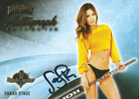 2014 Bench Warmer Signature Hockey SARAH STAGE Autograph Authentic