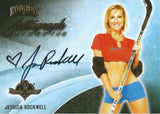 2014 Bench Warmer Signature Hockey JESSICA ROCKWELL Autograph Authentic