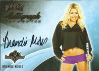 2014 Bench Warmer Signature Hockey BRANDIE MOSES Autograph Authentic