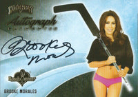 2014 Bench Warmer Signature Hockey BROOKE MORALES Autograph Authentic