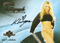 2014 Bench Warmer Signature Hockey KIRSTY LINGMAN Autograph Authentic