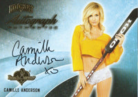 2014 Bench Warmer Signature Hockey CAMILLE ANDERSON Autograph Authentic