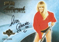 2014 Bench Warmer Signature Hockey LISA GLEAVE Autograph Authentic