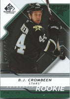 2008-09 SP Game Used B.J. CROMBEEN Rookie /999 Upper Deck RC NHL 00997