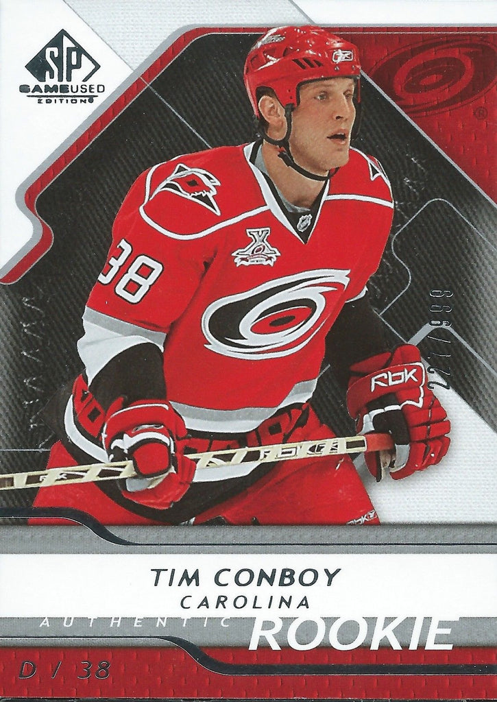 2008-09 SP Game Used TIM CONBOY Rookie /999 Upper Deck RC NHL 00992