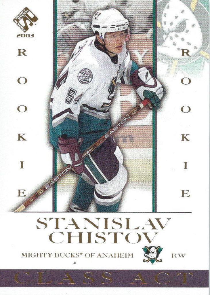2002-03 Private Stock Reserve #1 STANISLAV CHISTOV Rookie RC 01006