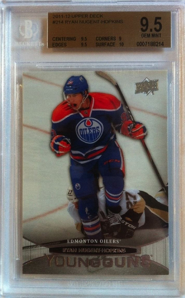 2011-12 Upper Deck RYAN NUGENT-HOPKINS BGS 9.5 Young Guns RC  Oilers