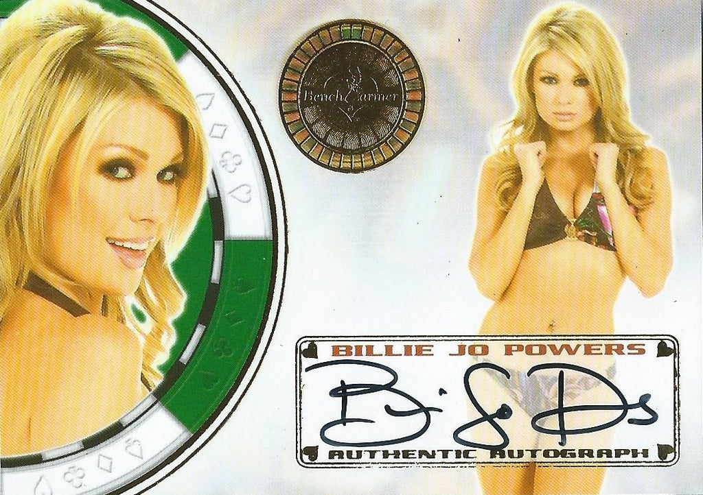 2013 Bench Warmer Vegas Baby BILLIE JO POWERS Autograph Auto Card