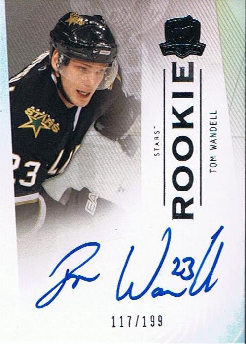 2009-10 The Cup TOM WANDELL Auto Rookie #/199 RC Autograph Dallas Stars