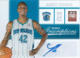 2012-13 Elite Rookie Inscriptions LANCE THOMAS Auto Signature 01167
