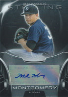 2013 Bowman Sterling Prospects MARK MONTGOMERY Auto Signature 01251