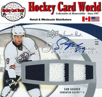 2007-08 Sweet Shot SAM GAGNER Auto / Jersey RC 15/100 Rookie Oilers