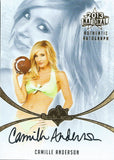 2013 Bench Warmer National Autographs CAMILLE ANDERSON Auto Card