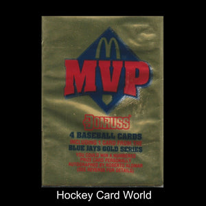 1992 Donruss MVP McDonald's Baseball Hobby PACK - 4 Cards Pack Gold Cards