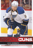2012-13 Upper Deck YG JADEN SCHWARTZ Young Guns Rookie 02187